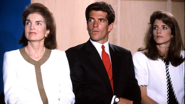Jackie Kennedy Onassis w. son John F. Kennedy Jr. and daughter Caroline Kennedy. (Photo by Time Life Pictures/DMI/The LIFE Picture Collection via Getty Images/Getty Images)