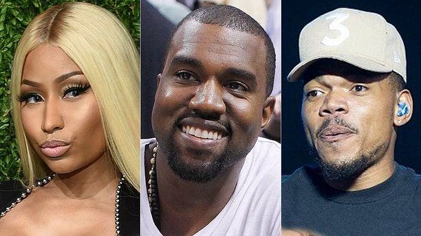 """Rappers Nicki Minaj and Chance The Rapper discussed their relationship with Kanye West. Minaj said West recently told her he's a """"born-again Christian now."""""""