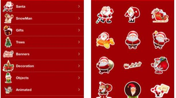 The following screen grab is from the Santa Call and Text You app's website.
