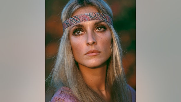 American actress Sharon Tate (1943 - 1969) wearing a pink top and headband, circa 1968. (Photo by Archive Photos/Getty Images)