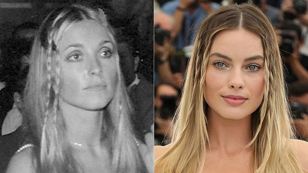 """Sharon Tate in 1968, left, and Margot Robbie in 2019. Robbie is playing Tate in Quentin Tarantino's """"Once Upon A Time in Hollywood."""""""