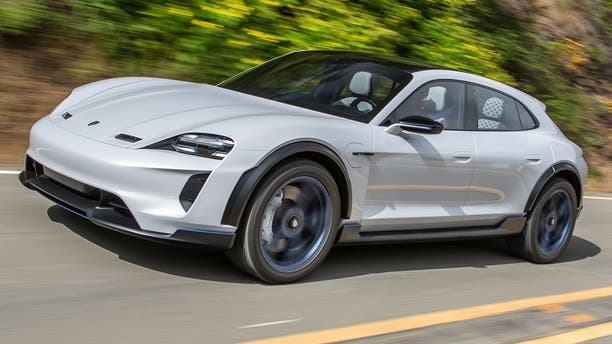 The wagon-style Mission E Cross Turismo adds SUV style to the Taycan's all-electric platform.