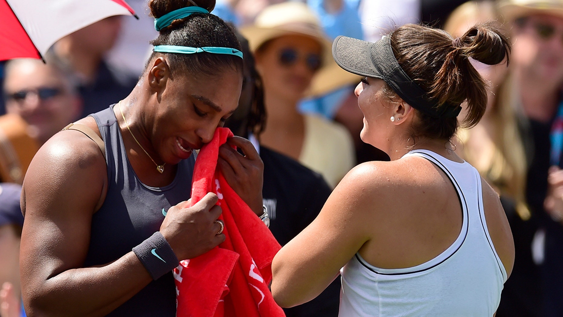 Westlake Legal Group Serena-Williams-Rogers-Cup-thumb Emotional Serena Williams retires from tournament final, opponent comforts her Gerren Keith Gaynor fox-news/sports/tennis fox-news/person/serena-williams fox news fnc/sports fnc d24cf8fd-948b-520b-9369-fc91b9a7276b article
