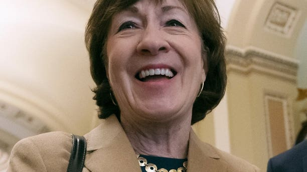 U.S. Sen. Susan Collins, R-Maine, is seen at the Capitol in Washington, March 14, 2019. Maine's Democrat Speaker of the House, Sara Gideon, announced June 24 that she plans to challenge Collins in the 2020 election. (Associated Press)