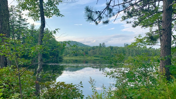 """""""The New Hampshire environmental community is very strong and Democrats seem to respond to environmental issues much more than they would probably in other parts of the country,"""" saidThe New Hampshire Institute of Politics Executive Director Neil Levesque. Scenic landscapes like this lake near Ossipee, N.H. are easily accessible across the state to residents.(Allie Raffa/Fox News)"""
