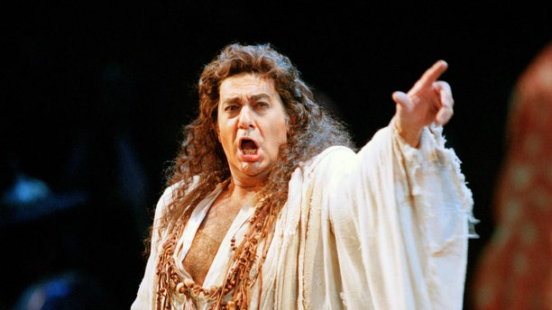 """In this Nov. 5, 1994 file photo, Placido Domingo performs in the San Francisco Opera's production of """"Herodiade"""" in San Francisco."""