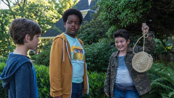 """This image released by Universal Pictures shows Jacob Tremblay, from left, as Max, Keith L. Williams as Lucas and Brady Noon as Thor in the film, """"Good Boys,"""" written by Lee Eisenberg and Gene Stupnitsky and directed by Stupnitsky."""