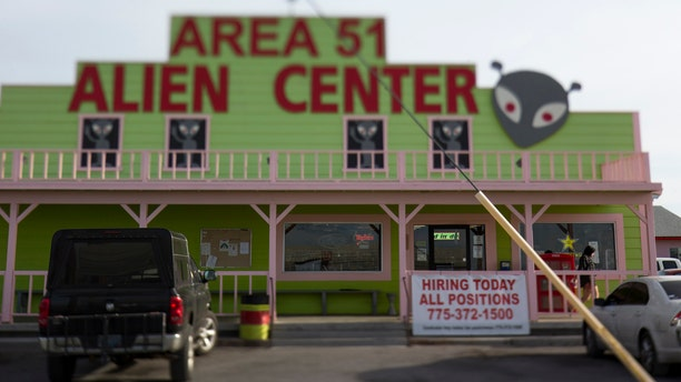 The Area 51 Alien Center in Amargosa Valley, Nevada, about 90 miles north of Las Vegas.