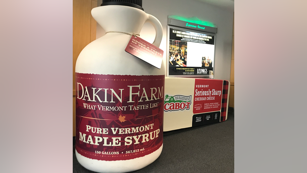 Travelers flying into the Burlington Airport are treated to a BIG reminder of Vermont's finest offerings.