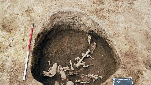The burial pit where the skeletons were found