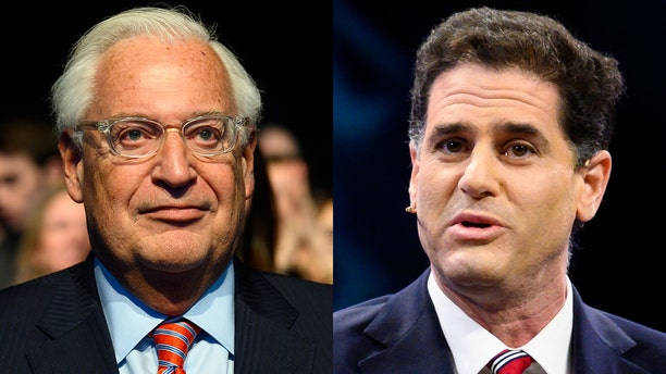 Senior Democrats in Congress are considering legislative action against David Friedman, the U.S. ambassador to Israel (left), andRon Dermer, Israel's ambassador to Washington (right). (Getty).