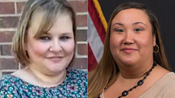 "Debbie Stevens, 47, pictured left was on her regular newspaper route when a flash flood swept up her car. 911 dispatcher, Donna Reneau, who was working her last shift after putting in her two weeks notice, is under fire for her ""uncaring"" response."