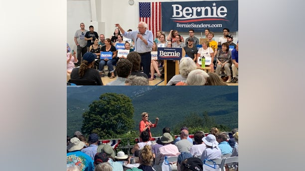 Senators Elizabeth Warren and Bernie Sanders made swings through Franconia and Conwaylast week, dedicating large parts of their campaign speeches to climate change and environmental protections.(Allie Raffa/Fox News)
