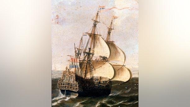File image of a Dutch East India Company galleon.
