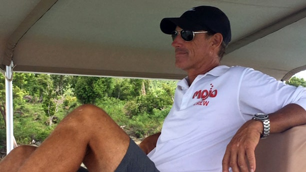 Private charter boat captain Scott Schroeder says he was hired in 2006 to take two 17-year-old girls who were staying on Jeffrey Epstein's island parasailing. (Barnini Chakraborty/Fox News)