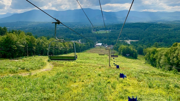 Cranmore Mountain Resort in Conway, N.H. offers summer activities like obstacle courses and ziplining to mitigate the ski industry's economic losses during slow winter seasons. (Allie Raffa/Fox News)