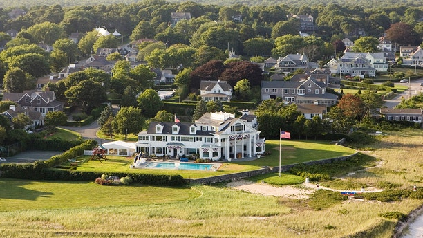 An aerial view of the Kennedy Compound on July 25, 2008 in Hyannis Port, Massachusetts. (Photo by Tim Gray/Getty Images)