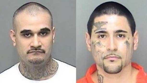 Jaime Caudillo, left, and Steven Rincon, were both charged with attempted murder of a police officer, according to a report.