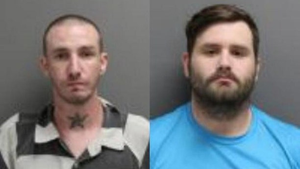 Troy Nelson, left, and Ryan Morris, right, were sentenced Friday for falsely claiming to be U.S. military veterans.