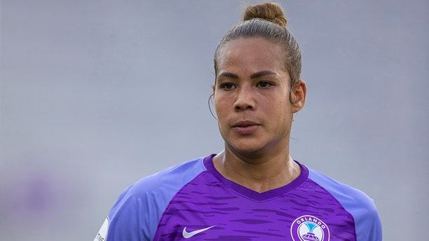 ORLANDO, FL - JUNE 30: Orlando Pride defender Toni Pressley (3) during the soccer match between the Chicago Red Stars and the Orlando Pride on June 30, 2019, at Exploria Stadium in Orlando FL. (Photo by Joe Petro/Icon Sportswire via Getty Images)