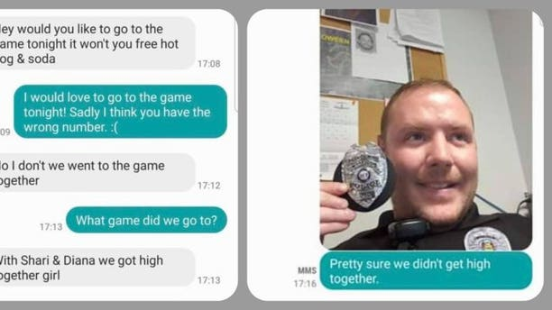 A screenshot showing someone texting a Missouri cop without realizing it.