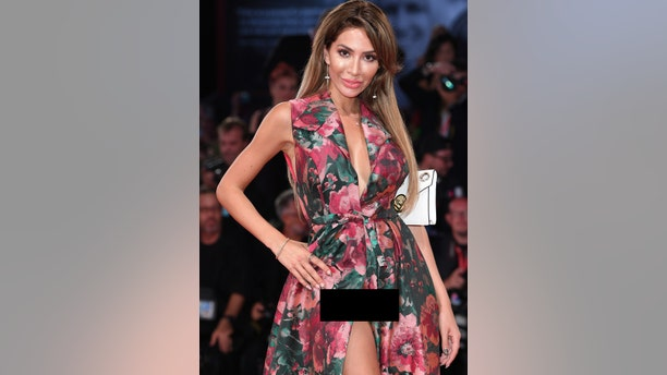 """Farrah Abraham walks the red carpet ahead of the """"Ad Astra"""" screening during the 76th Venice Film Festival at Sala Grande on Aug. 29, 2019 in Venice, Italy."""