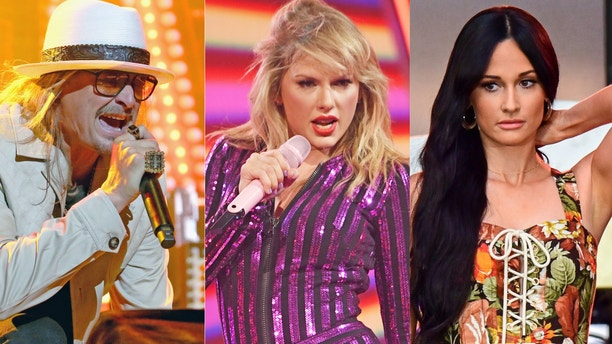 "Kid Rock slammed Taylor Swift in a sexist tweet after she spoke about political activism. Kacey Musgraves was accused of ""liking"" Kid Rock's tweet, which she denied."
