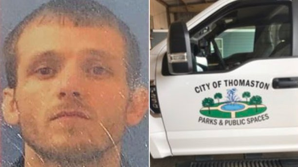 James Rodney Owenby, left, and an image of a truck similar to the one he is accused of stealing.