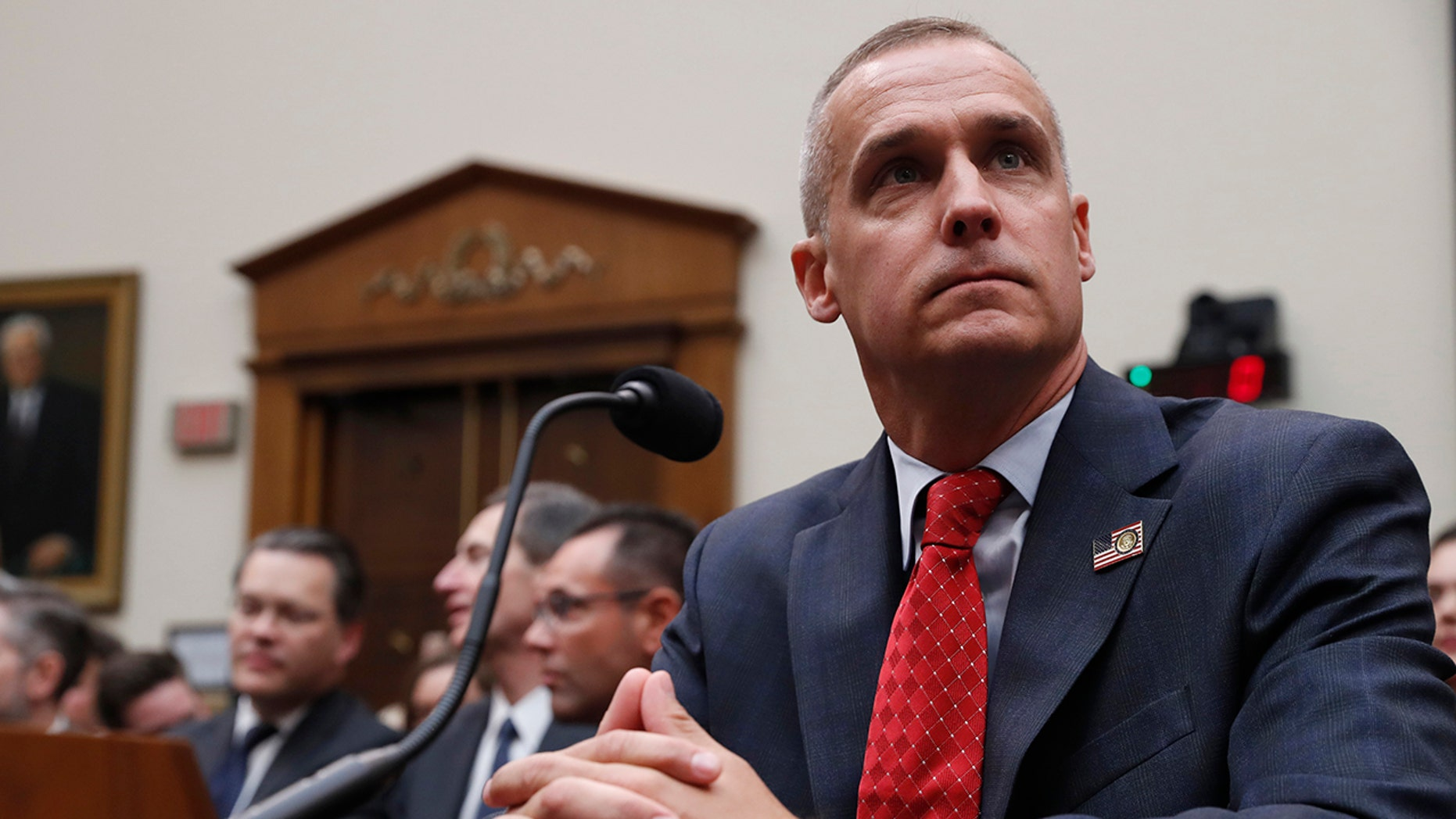 Corey Lewandowski, former campaign manager for President Donald Trump, arrives to testify to the House Judiciary Committee Tuesday, Sept. 17, 2019, in Washington. (AP Photo/Jacquelyn Martin)