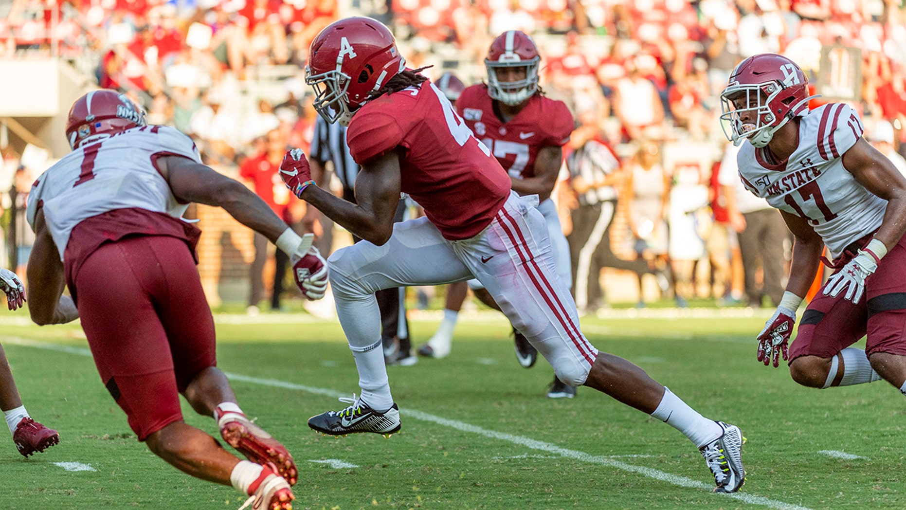 Westlake Legal Group CFB-Jerry-Jeudy2 All-America Watch: Alabama WR Jerry Jeudy off to fast start fox-news/sports/ncaa/alabama-crimson-tide fox-news/sports/ncaa-fb fox-news/sports/ncaa fnc/sports fnc f374bbbf-262a-5f02-bfbf-576c755922a6 Associated Press article