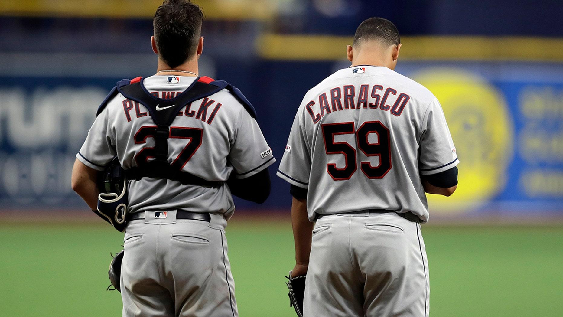 Indians Pitcher Carrasco Cheered In Return From Leukemia Fox News