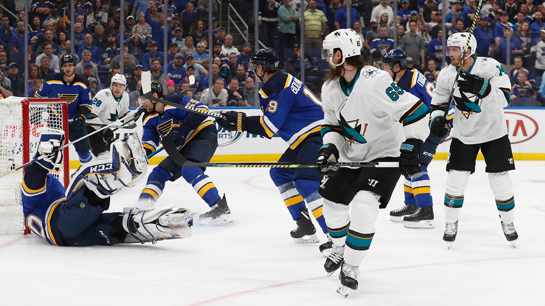 A major officiating gaffe occurred in the Stanley Cup playoffs when San Jose's Erik Karlsson scored a goal set up by a hand pass. While hockey officials have the toughest job _ they must be able to skate like the players _ they do not get a pass for their mistakes, either. (AP Photo/Jeff Roberson, File)