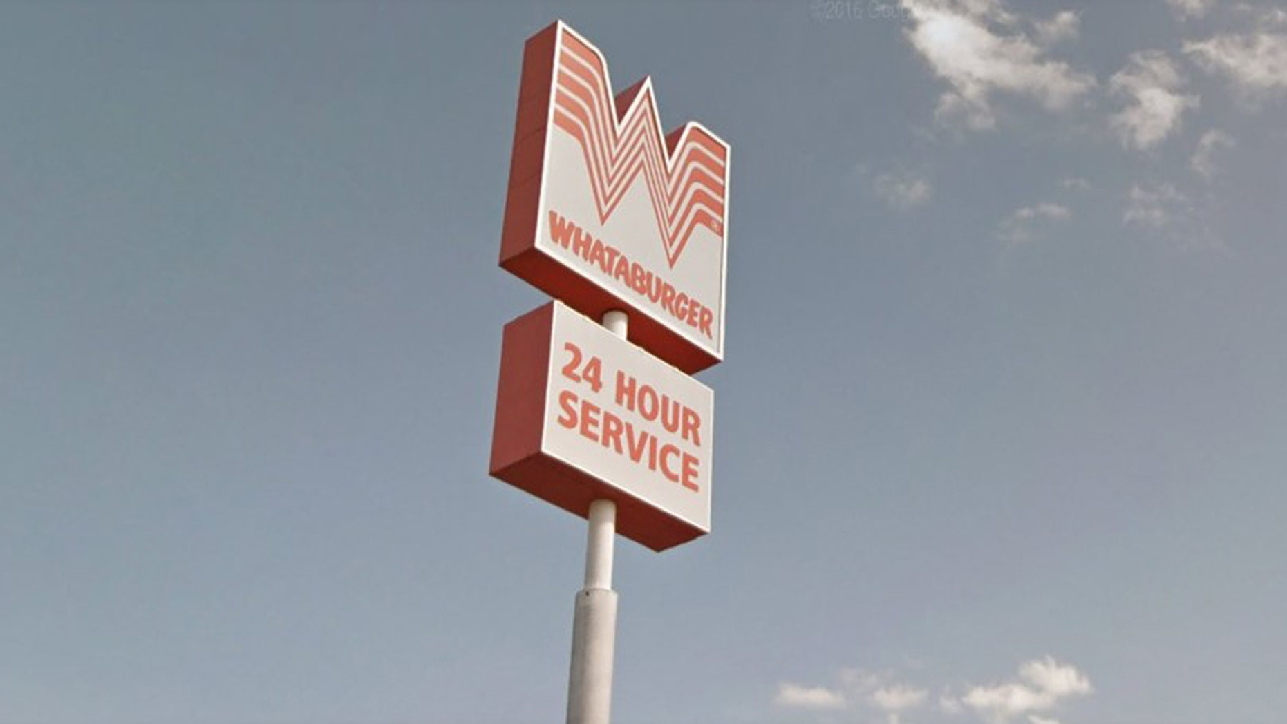 Whataburger sign in front of a restaurant in Bastrop, Texas. (Photo: Google Maps)