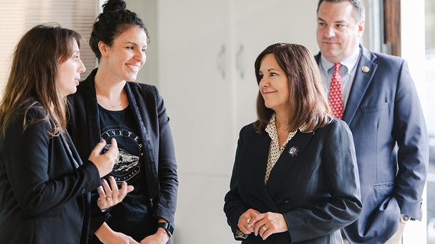 Karen Pence, wife of Vice President Mike Pence, visited the factory in North Carolina in November 2018.