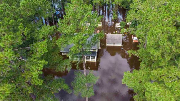 A home on Long Avenue Extension at Grier Swamp was surrounded by water Friday, Sept. 6, 2019. Residents of Horry County breathed a collective sigh of relief today after Hurricane Dorian passed with only minor damages.