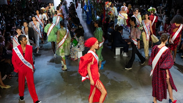 """In the NYFW presentation, which marked the 10th anniversary of his eponymous brand's showing, Gurung hoped to examine """"the root of American identity."""""""
