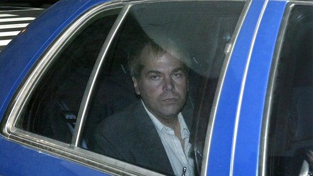 John Hinckley Jr. arrives at U.S. District Court in Washington in 2003. (AP Photo/Evan Vucci, File)