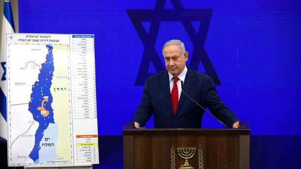 Israeli Prime Minister Benjamin Netanyahu during a press conference in Tel Aviv, Israel, Tuesday, Sept. 10, 2019.