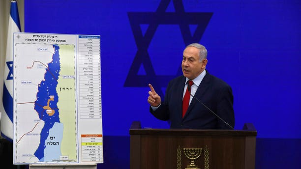Netanyahu vowed Tuesday to begin annexing West Bank settlements if he wins national elections next week.