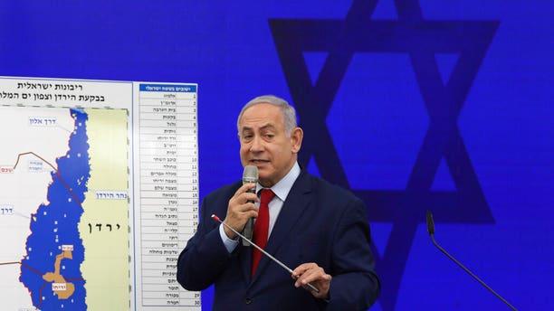 Netanyahu in Tel Aviv on Tuesday.
