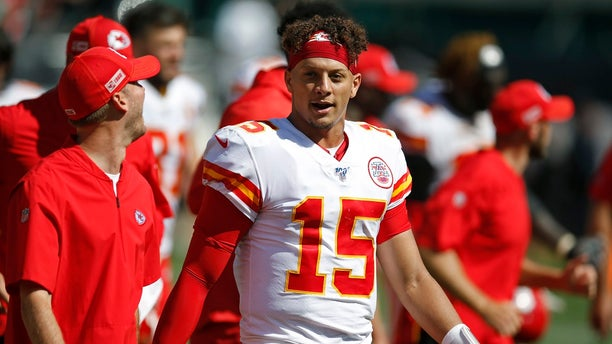 Mahomes was Alex Smith's understudy for one season. (AP Photo/D. Ross Cameron)