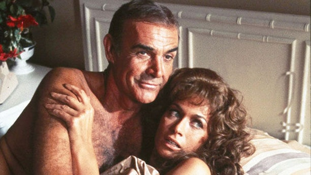 """Sean Connery and Valerie Leon are seen in """"Never Say Never Again."""" Leon has slammed the idea of a female James Bond."""