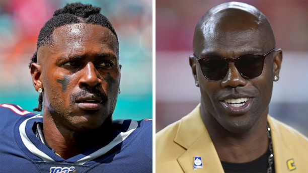 Antonio Brown, left, has found support from former NFL star Terrell Owens. (Getty, File)