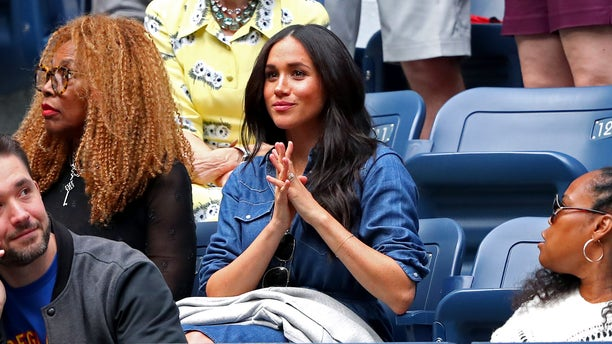 Meghan, Duchess of Sussex, sat in Williams' box courtside.