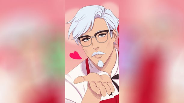 "The game is described as a ""choose your own adventure-style dating simulator that gives gamers the opportunity to date the Colonel."""