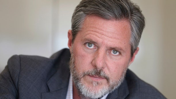 """Jerry Falwell Jr., pictured here in November 2016, said Tuesday he has asked the FBI to investigate what he called a """"criminal"""" smear campaign against him by former Liberty University board members and employees."""