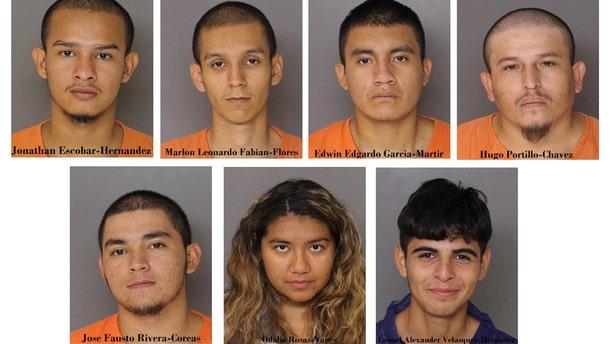 The suspects in the killing of Daniel Alejandro Alvarado Cuellar.