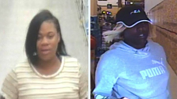 """In a Facebook post, the Walnut Creek Police Department said a woman and her accomplice """"worked in tandem"""" on Monday to steal a wallet from an elderly woman's purse in a Safeway grocery store in the city. Detectives asked the public for help identifying the two women and included videos of the suspects before and during the theft as well as when they left the store."""