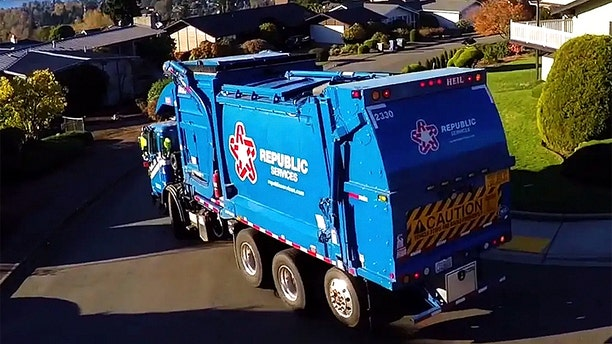 The Pittsburgh fire and police departments responded to a call of a man trapped inside a garbage truck early Monday, officials said. File