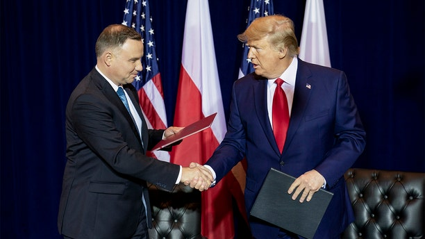 President Donald J. Trump participates in a signing ceremony with Polish President Andrzej Duda Monday, Sept. 23, 2019, at the InterContinental New York Barclay in New York City. (Official White House Photo by Joyce N. Boghosian)